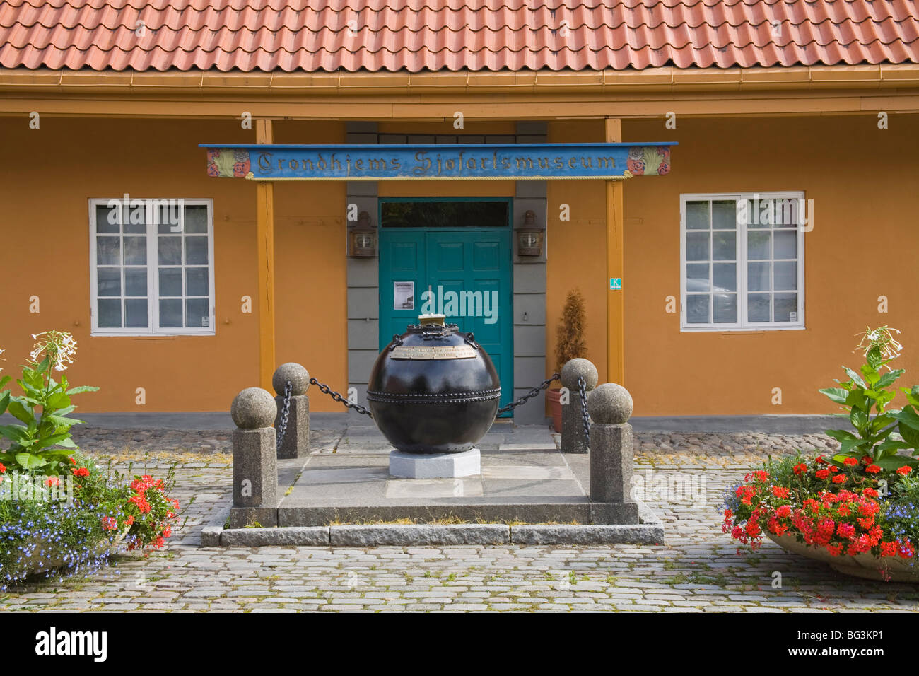 Maritime Museum, Trondheim City, Nord-Trondelag Region, Norway, Scandinavia, Europe - Stock Image