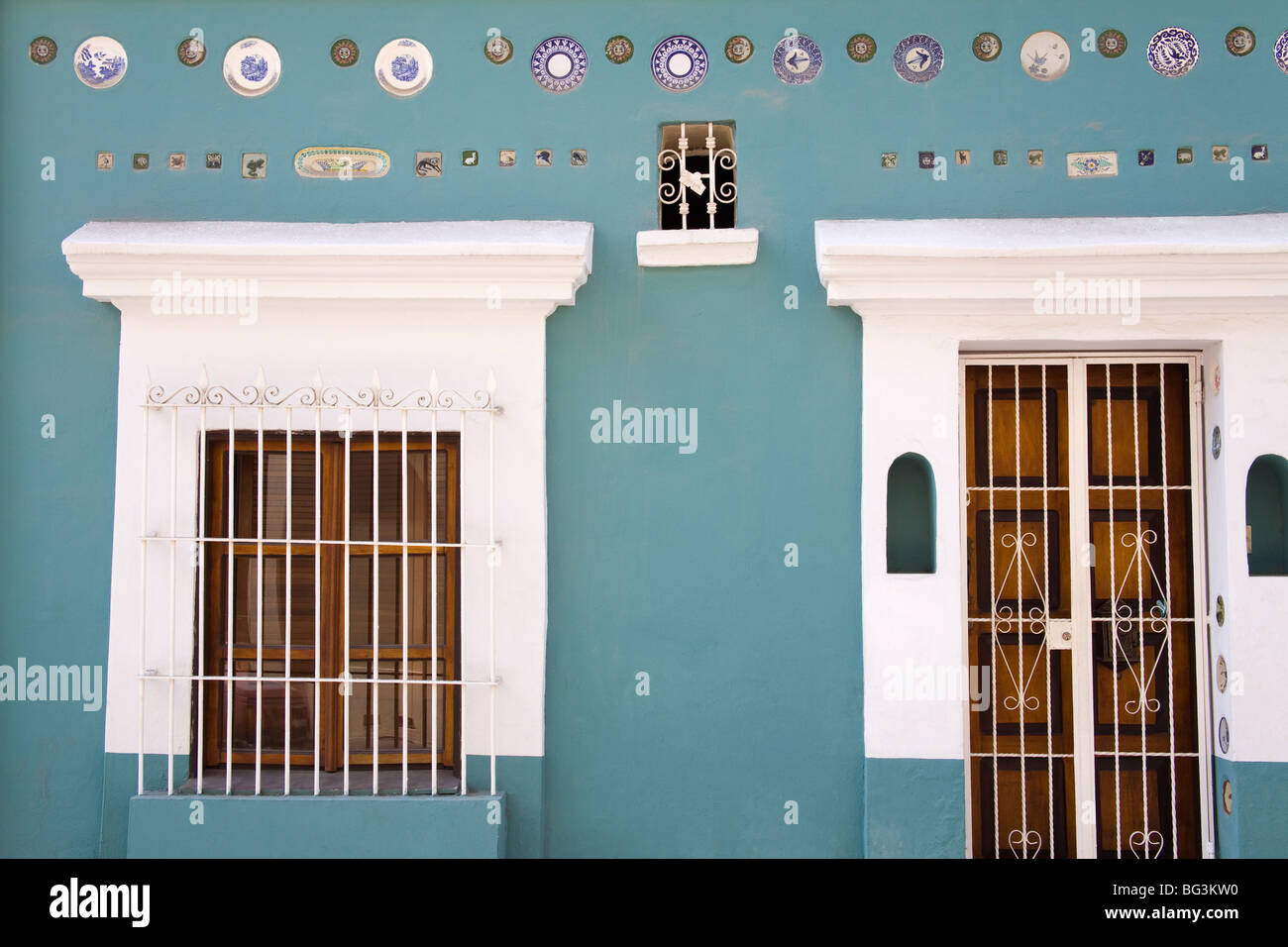 Colonial style house in Old Town District, Mazatlan, Sinaloa State, Mexico, North America Stock Photo