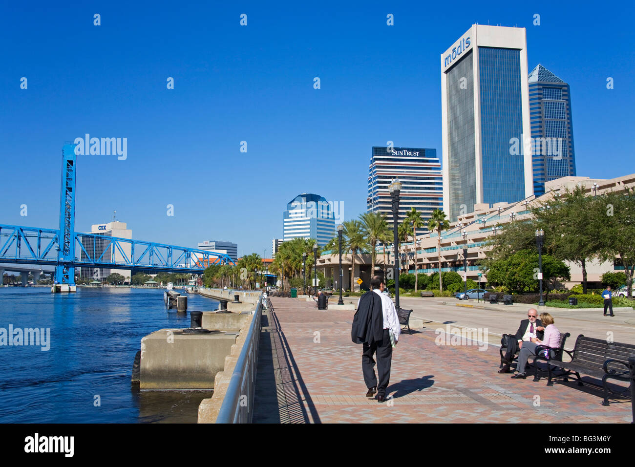 Jacksonville Riverfront, Florida, United States of America, North America - Stock Image