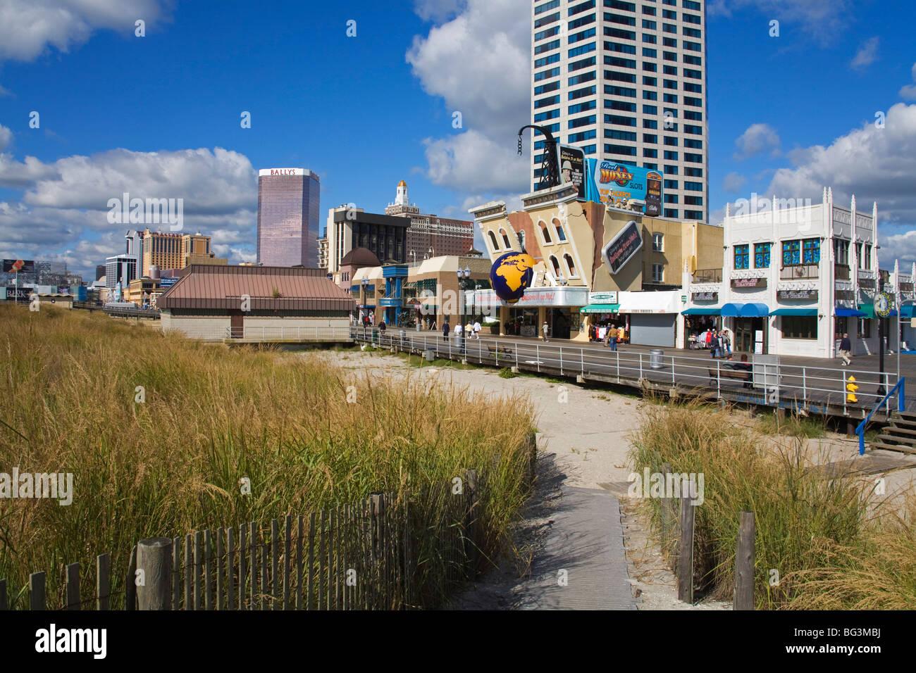 Atlantic City Boardwalk, Atlantic City, New Jersey, United States of America, North America - Stock Image
