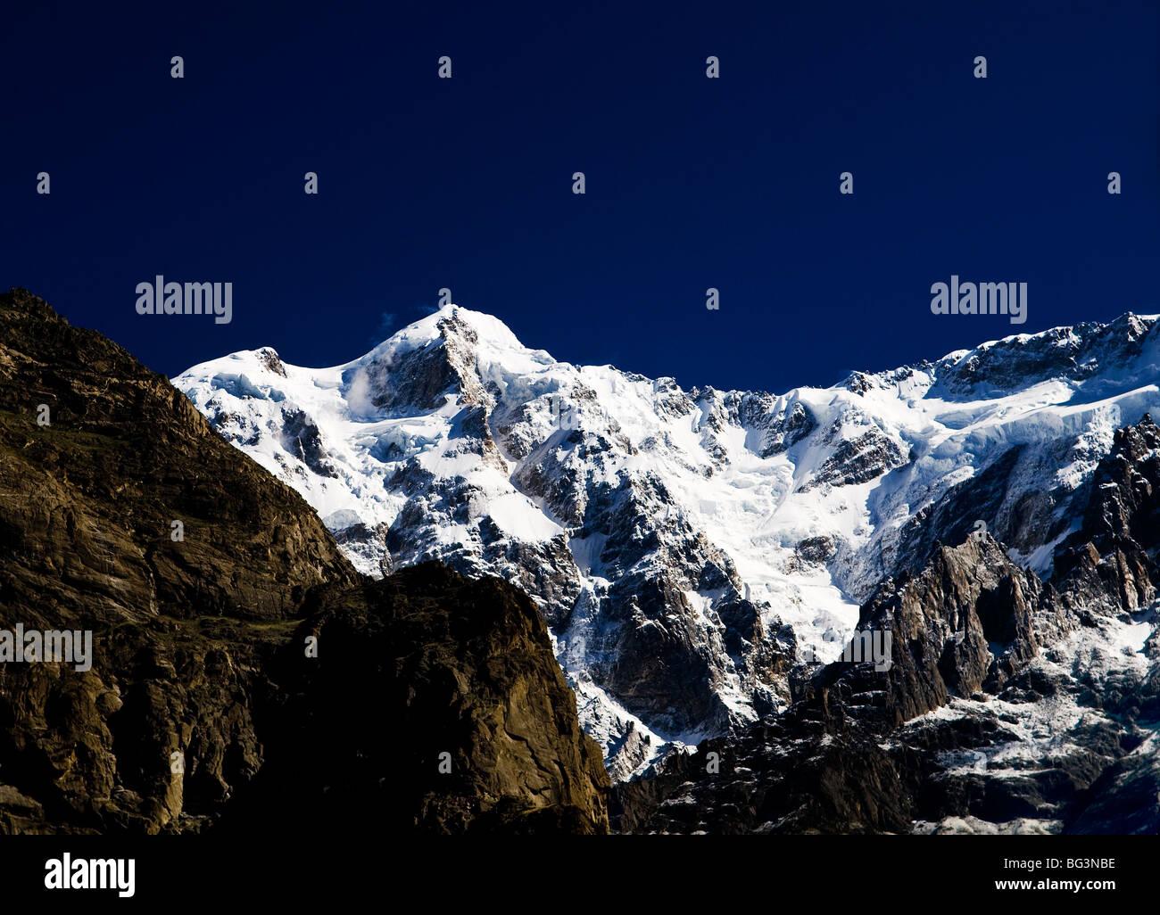 Dramatic mountain scenery as seen in North Pakistan. - Stock Image