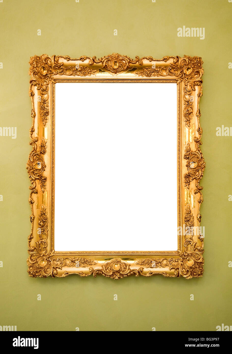 Ornate Picture Frame Wall Stock Photos & Ornate Picture Frame Wall ...