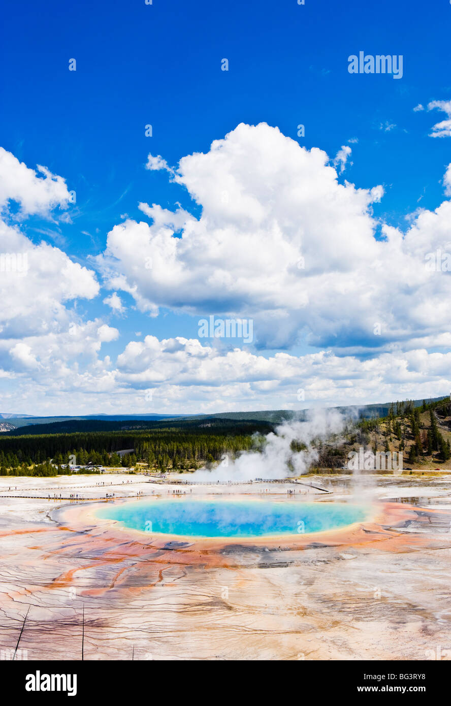Grand Prismatic Spring in Yellowstone National Park, Wyoming, USA. - Stock Image