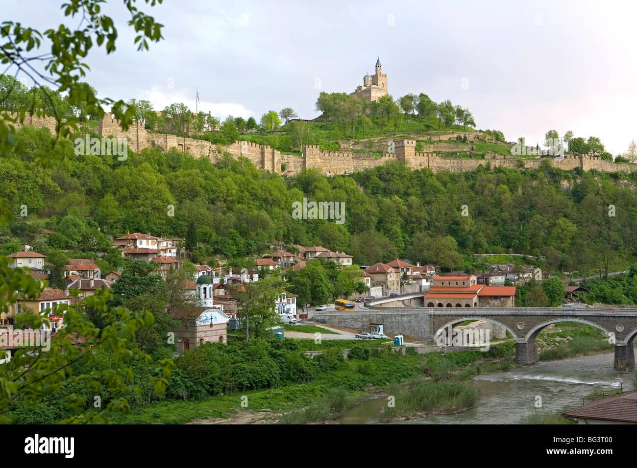 Tsarevets fortress, Veliko Tarnovo, Bulgaria, Europe Stock Photo