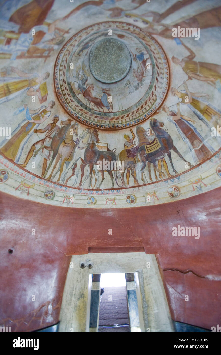 Copy of Thracian tomb of Kazanlak, UNESCO World Heritage Site, Kazanlak, Bulgaria, Europe - Stock Image