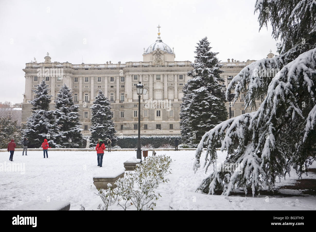 Snow Madrid High Resolution Stock Photography And Images Alamy