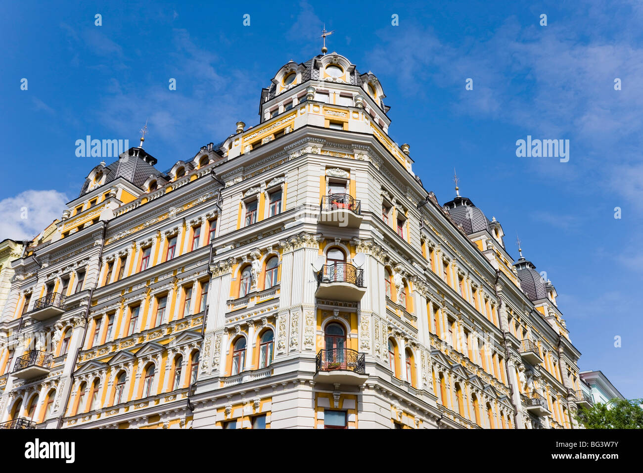 Stalinist architecture on Khreschatik Avenue, Kiev, Ukraine, Europe - Stock Image