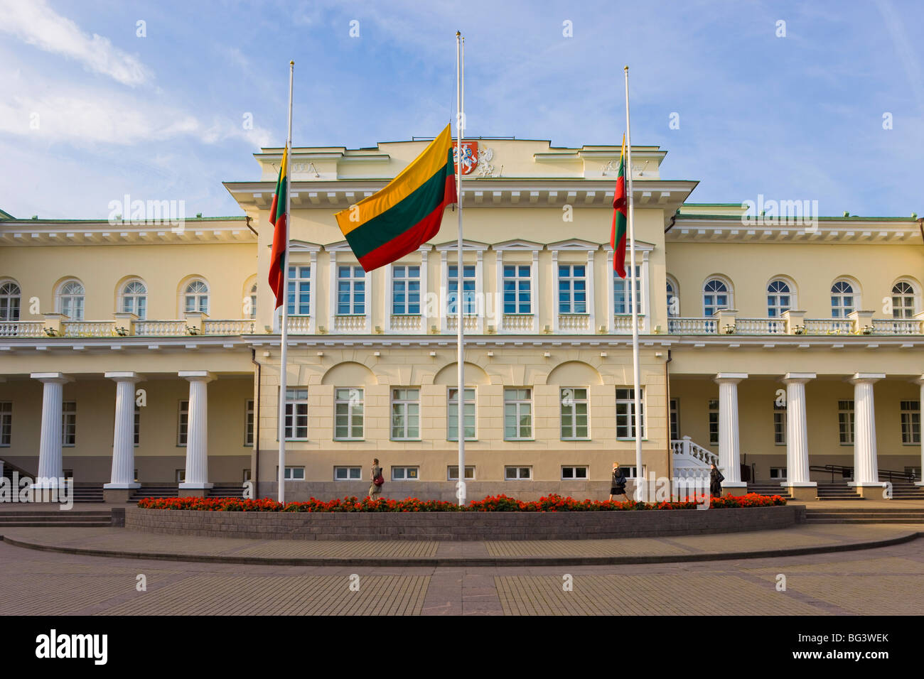 Presidential Palace, Vilnius, Lithuania, Baltic States, Europe - Stock Image