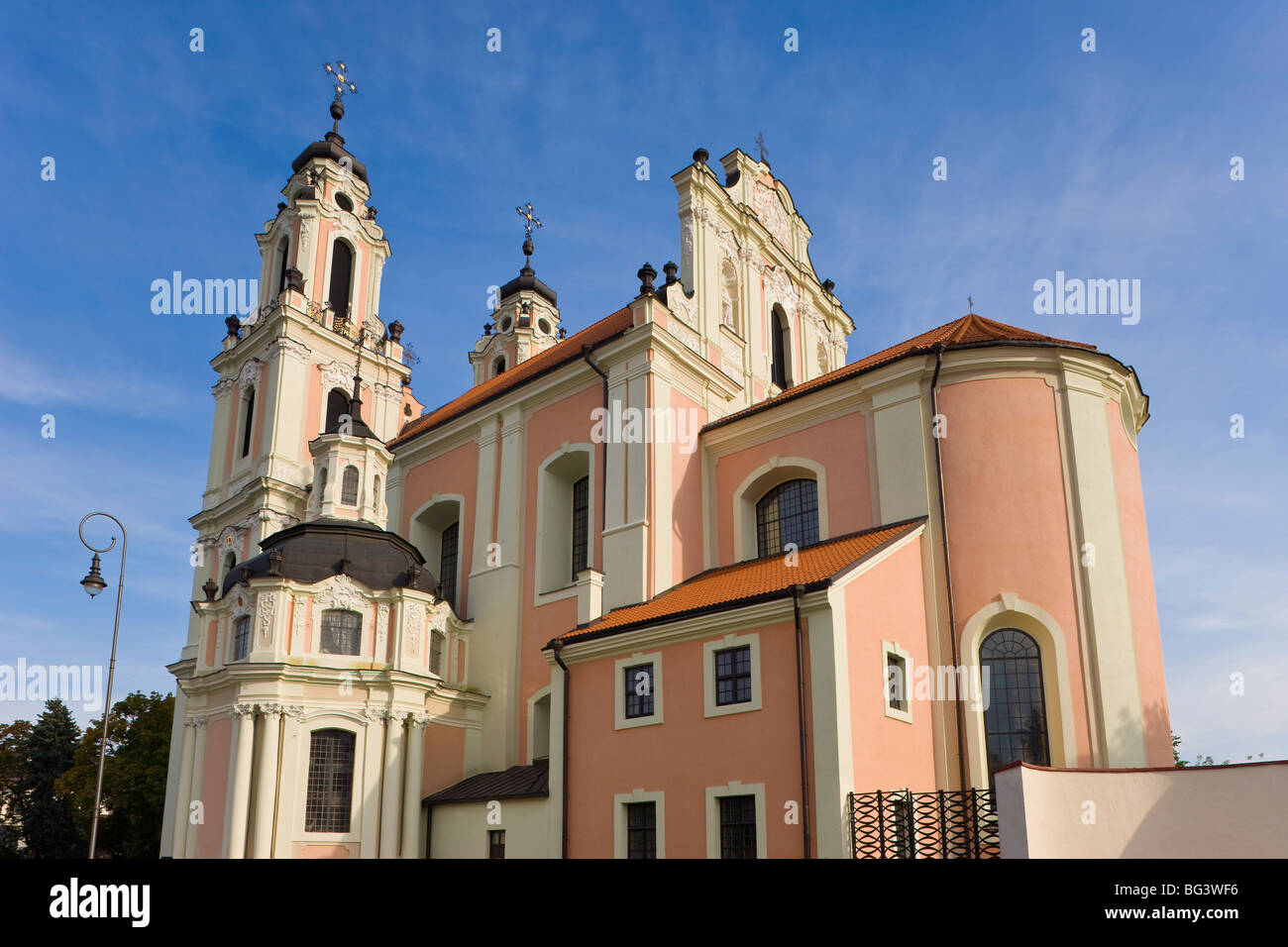 St. Catherine's Church and the Benedictine Nunnery, Vilnius, Lithuania, Baltic States, Europe Stock Photo
