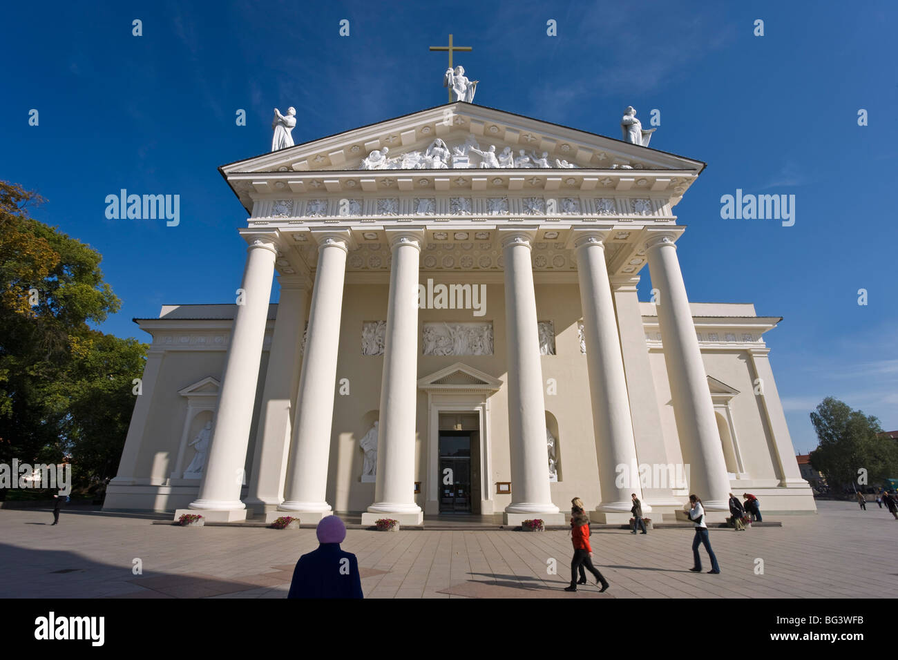 Cathedral, Vilnius, Lithuania, Baltic States, Europe Stock Photo