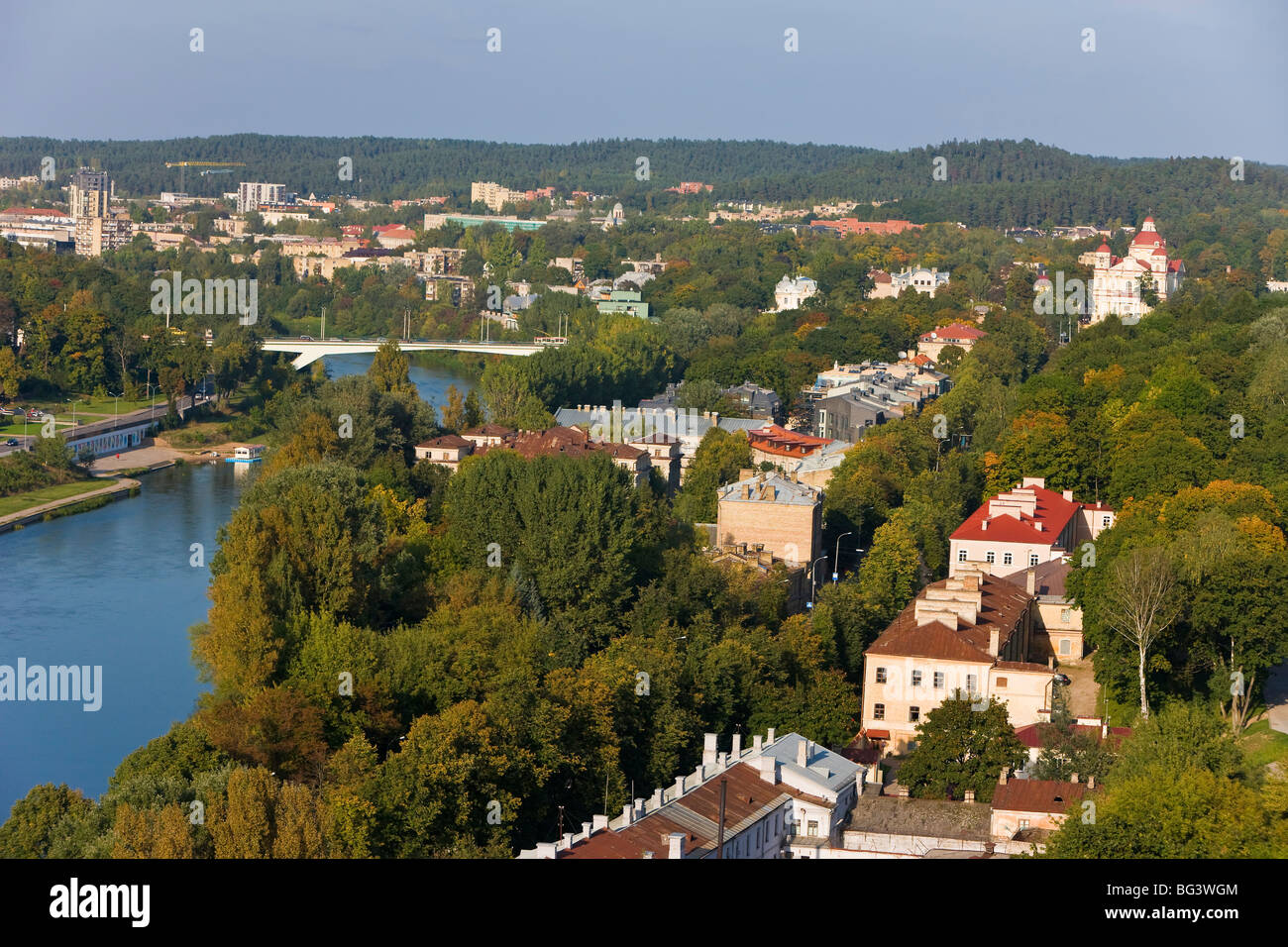 View over the Old Town, Vilnius, Lithuania, Baltic States, Europe - Stock Image