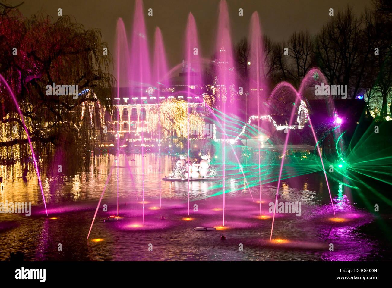 Illuminations at the Tivoli Lake - Stock Image