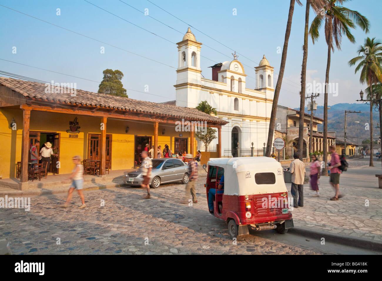 Honduras, Copan Ruinas, Parque Central - Stock Image