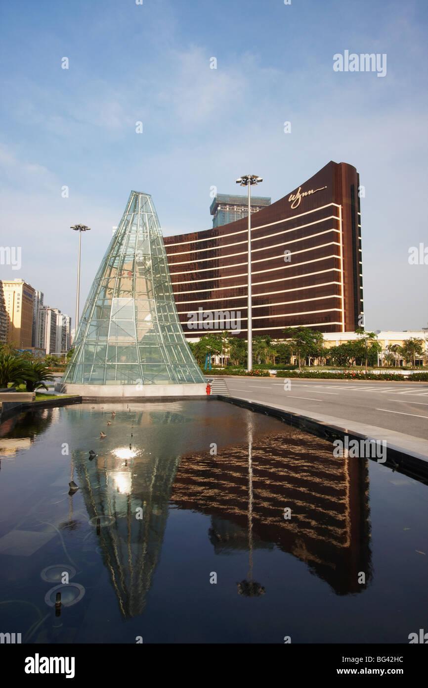 Reflection of Wynn Casino, Macau, China, Asia - Stock Image