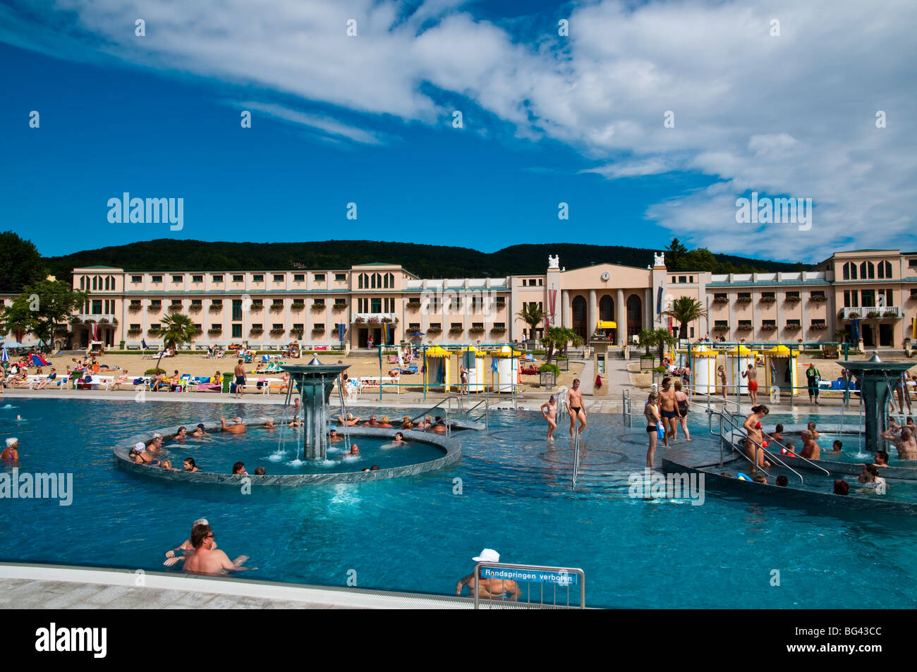thermalbecken strandbad baden bei wien nieder sterreich stock photo 27135372 alamy. Black Bedroom Furniture Sets. Home Design Ideas