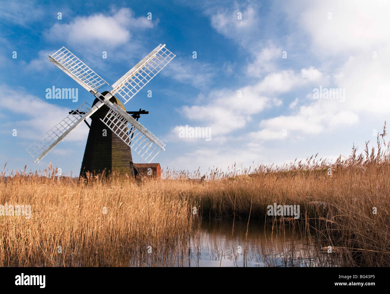 Herringfleet Drainage Mill, Suffolk, UK - Stock Image