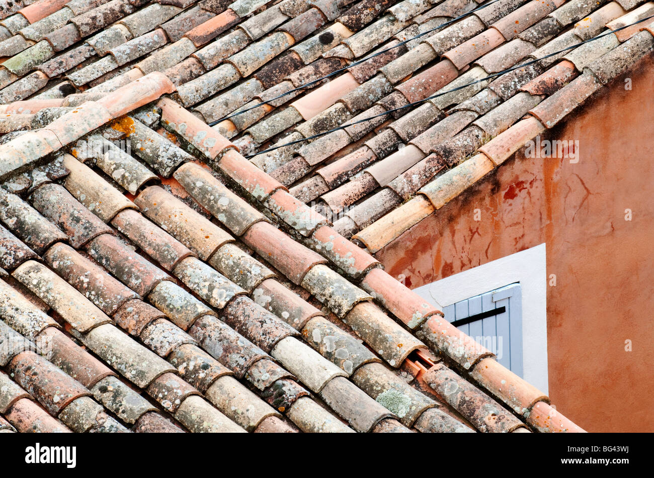 Roofs of Roussillon, Provence, France - Stock Image