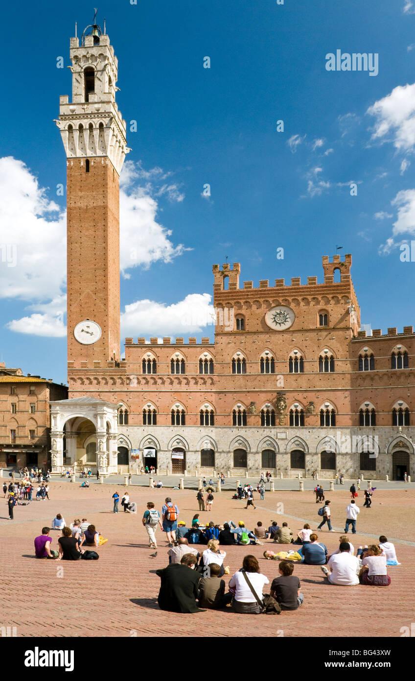 Piazza del Campo, Siena, Tuscany, Italy - Stock Image