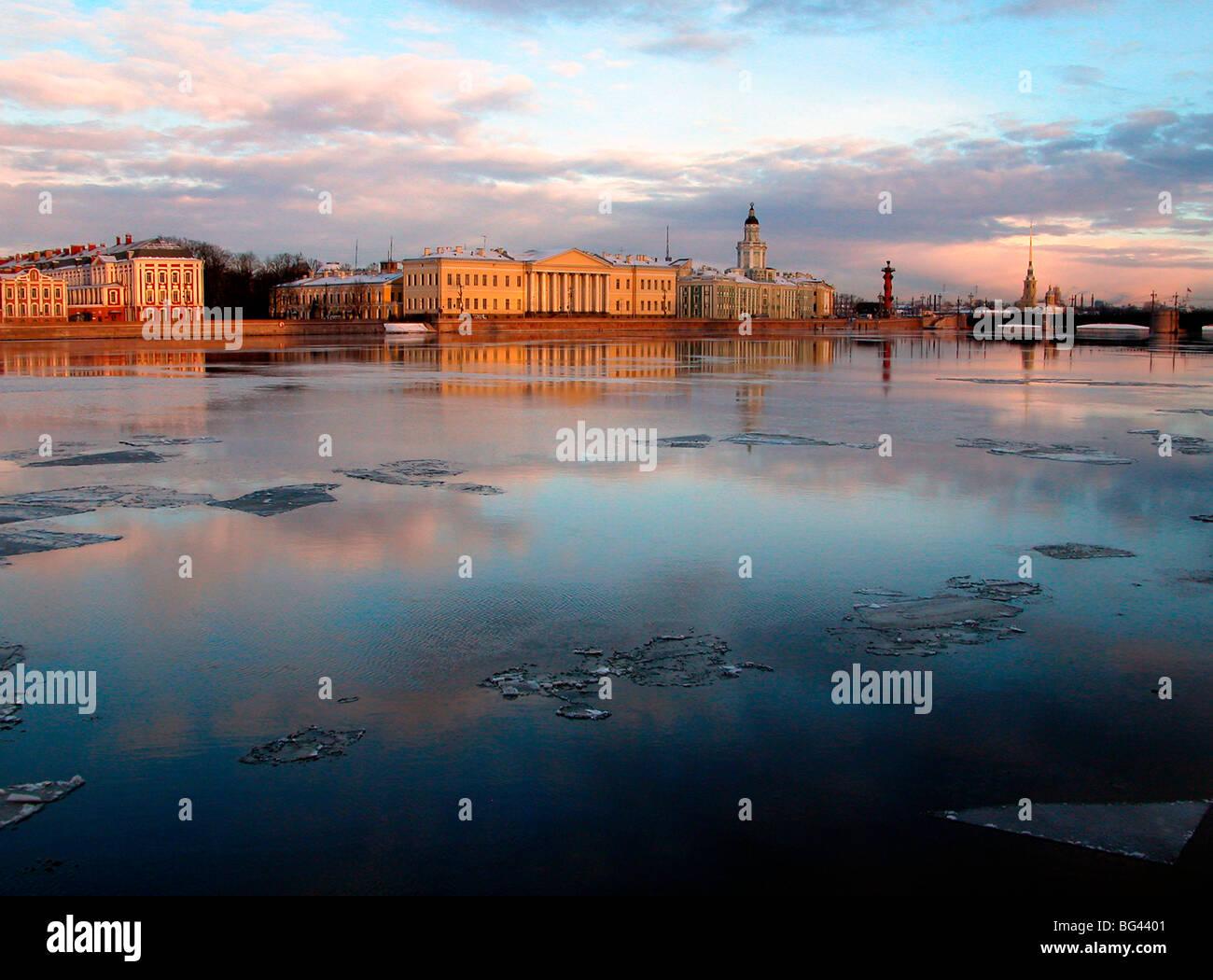 Neva River, Saint Petersburg, Russia - Stock Image