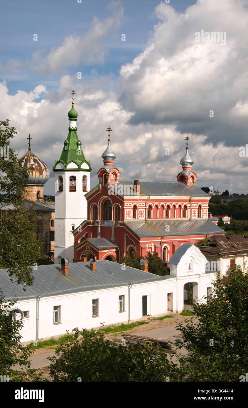 Saint Nicholas Monastery, Staraya Ladoga, Leningrad region, Russia - Stock Image