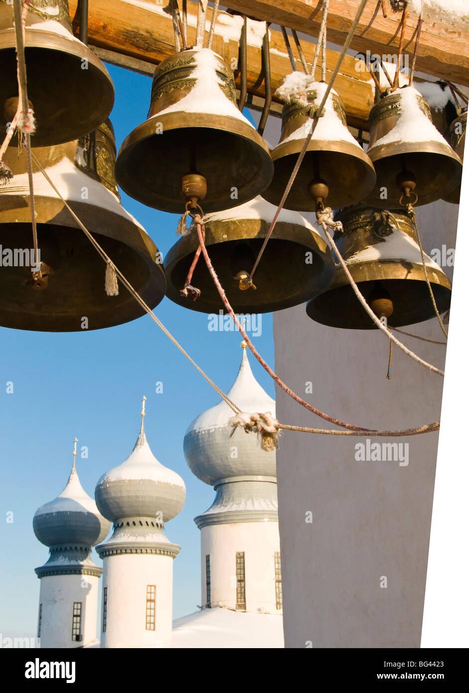 Bell tower, Bogorodichno-Uspenskij Monastery, Leningrad region, Russia - Stock Image