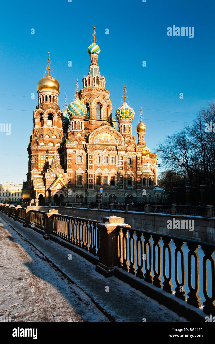 The Church of our Saviour on the spilled blood, Saint Petersburg, Russia - Stock Image