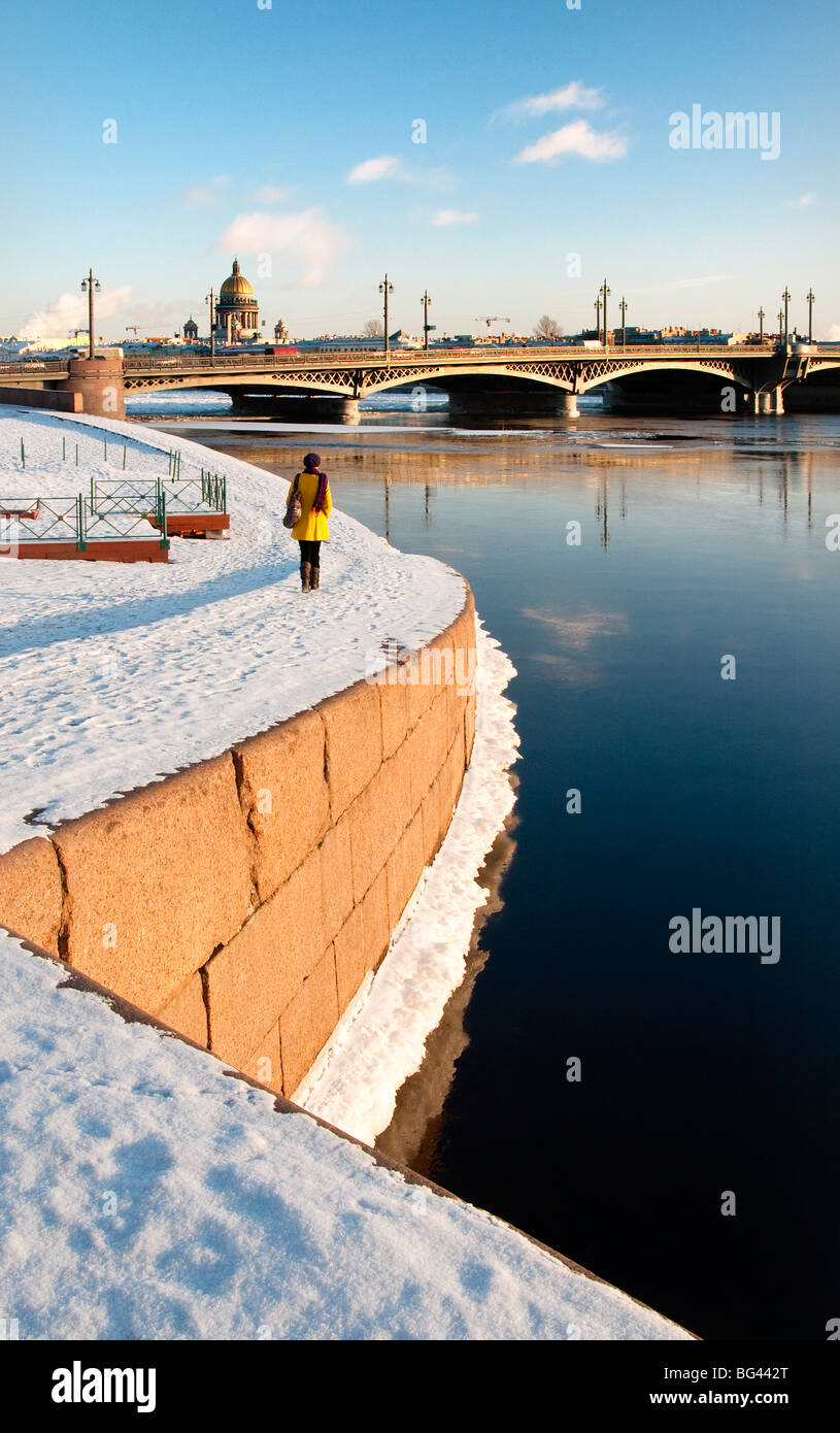 Saint Petersburg in winter, Russia - Stock Image