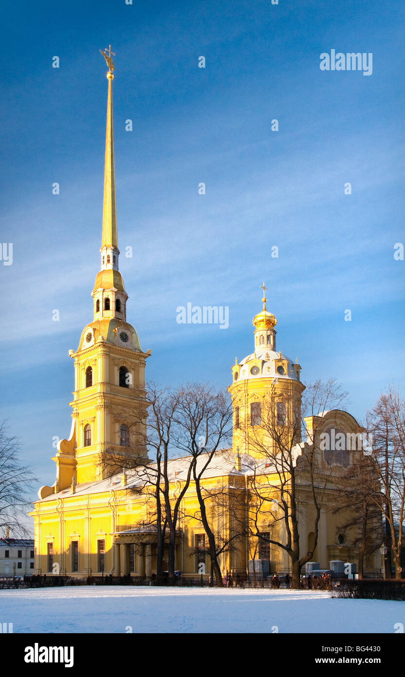 The Peter and Paul Cathedral, Saint Petersburg, Russia - Stock Image