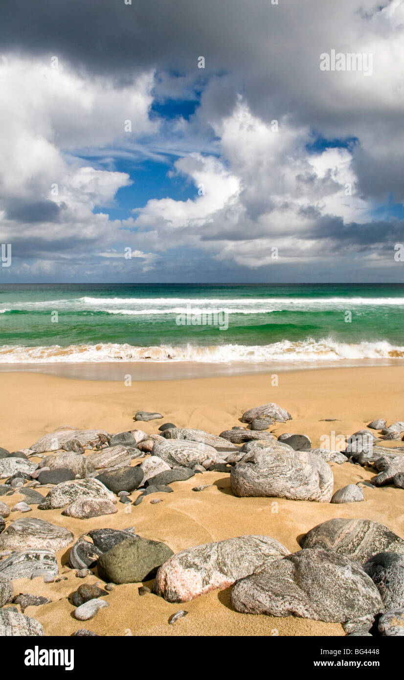 Dhail Mor beach on the Isle of Lewis, Hebrides, Scotland, UK - Stock Image