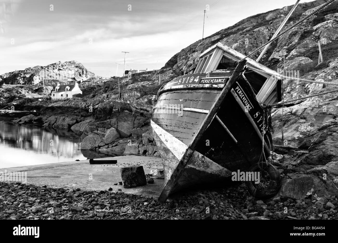 Stockinish harbour on the Isle of Harris, Hebrides, Scotland, UK - Stock Image