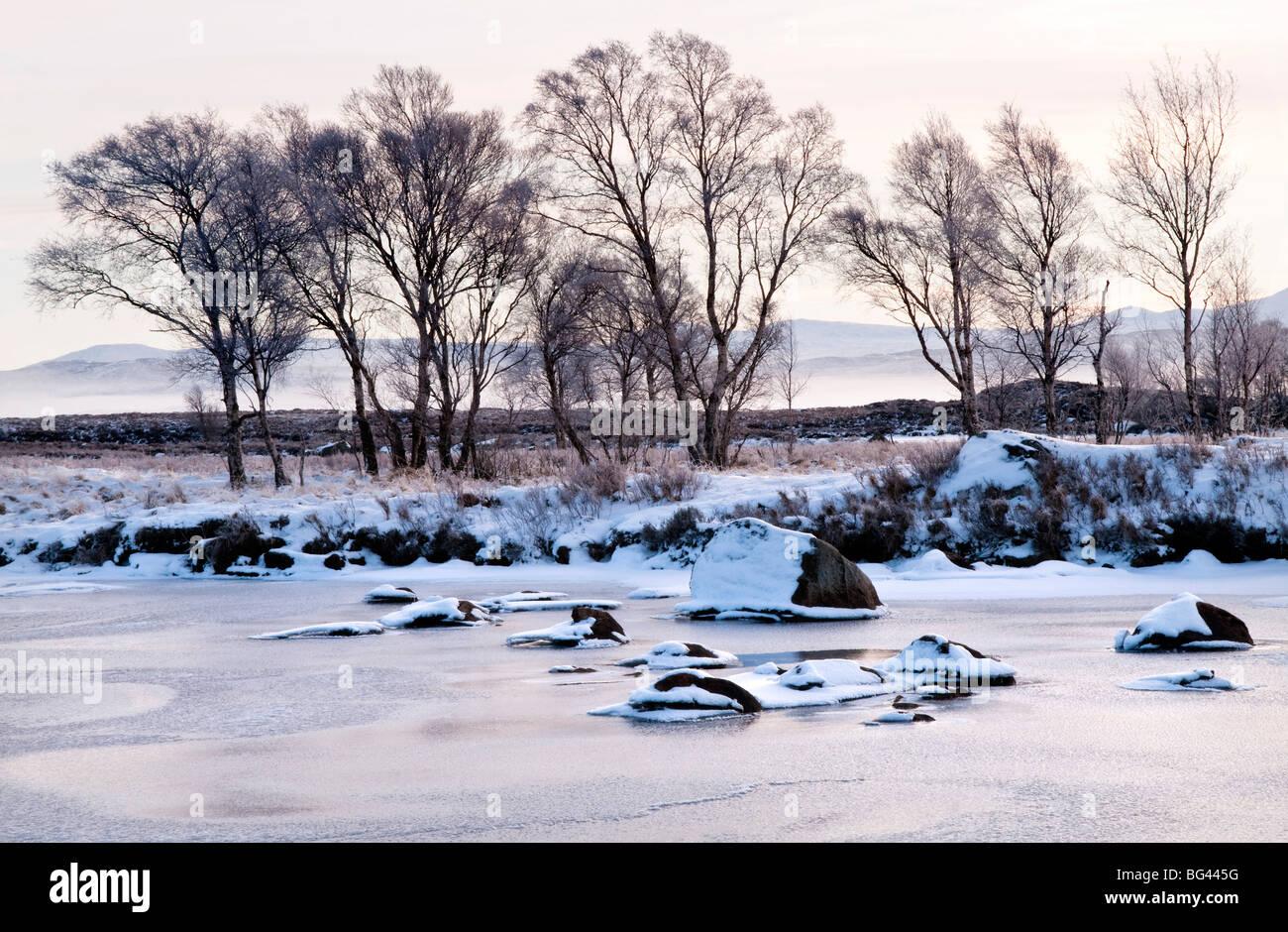 Sunrise on Loch Ba, Glencoe, Scotland, UK - Stock Image