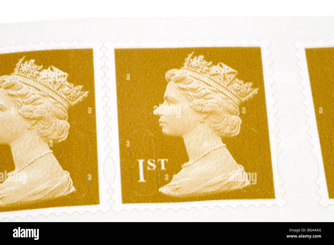 Book Of First Class Stamps - Stock Image