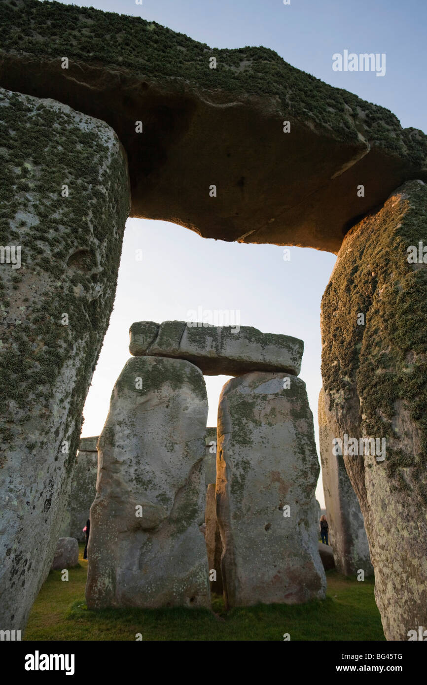 England, Wiltshire, Stonehenge Stock Photo