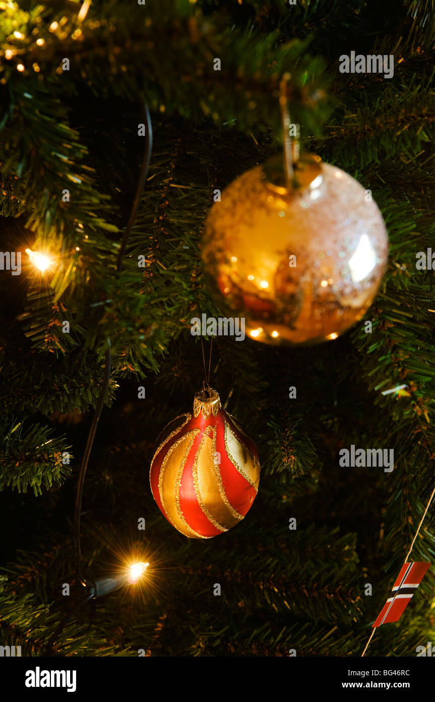 Traditional Norwegian Christmas decorations Stock Photo: 27138032 ...