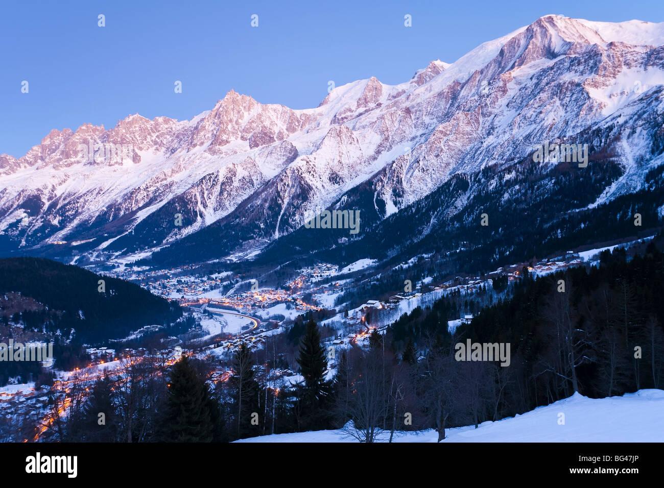 Chamonix-Mont-Blanc, French Alps, Haute Savoie,  France - Stock Image