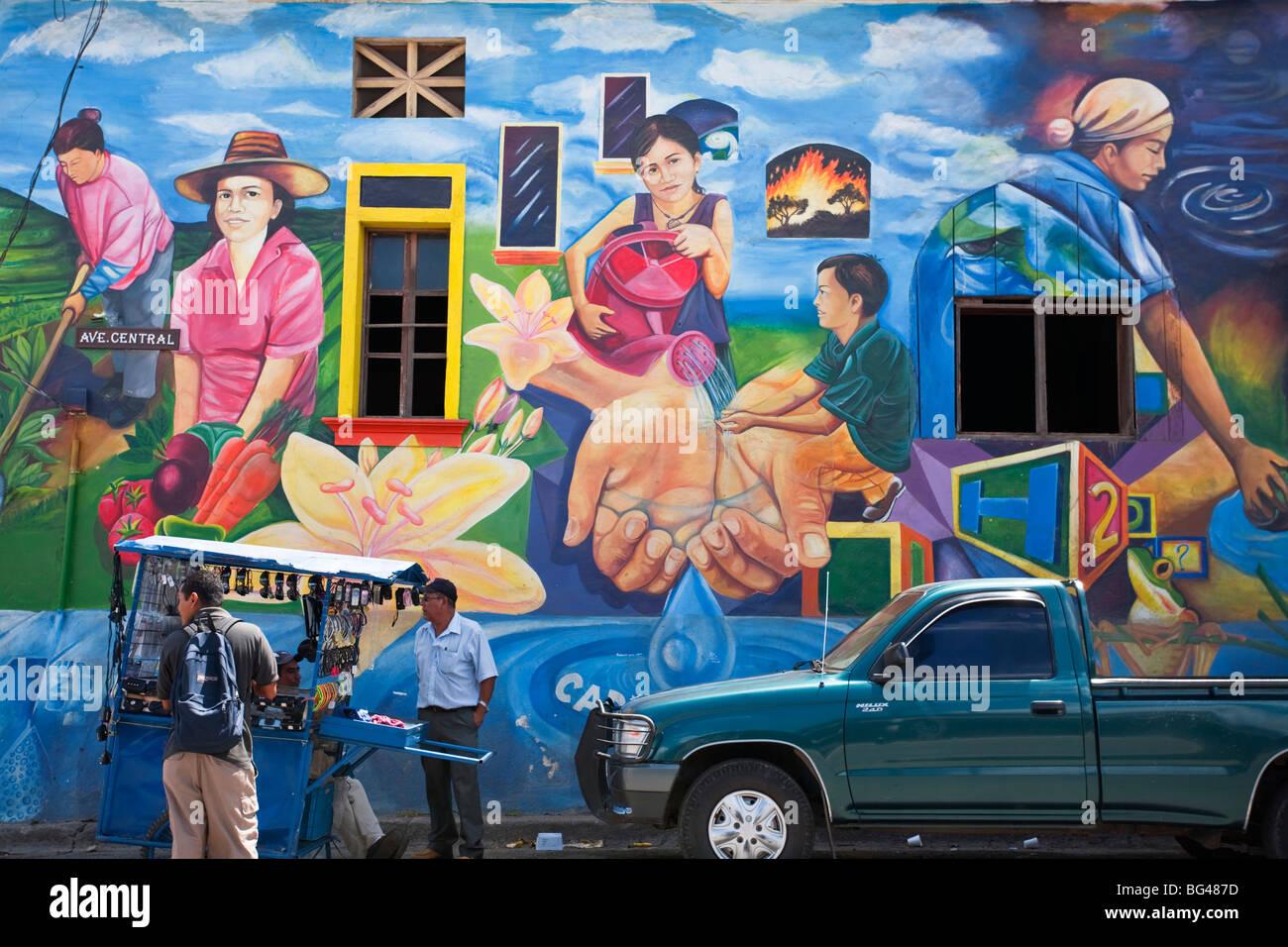 Nicaragua, Esteli, Wall mural - Stock Image