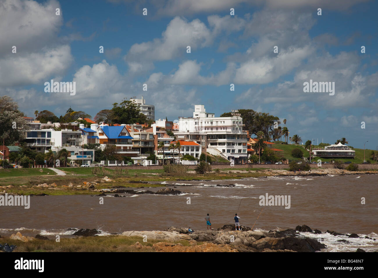Uruguay Montevideo Playa Los Ingleses Beach Stock Photo Alamy