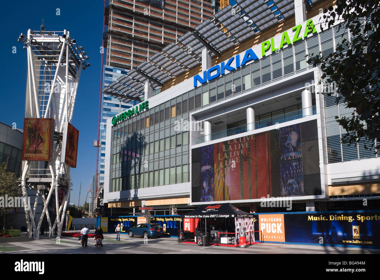 USA, California, Los Angeles, Downtown, Nokia Plaza - Stock Image