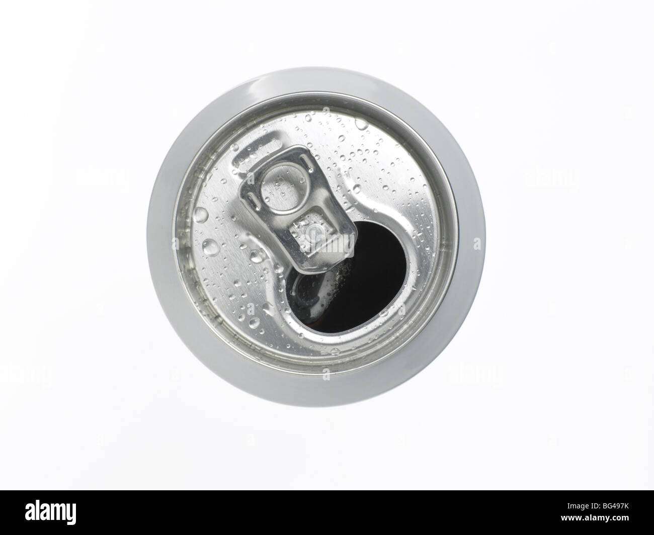 opened can of drink - Stock Image