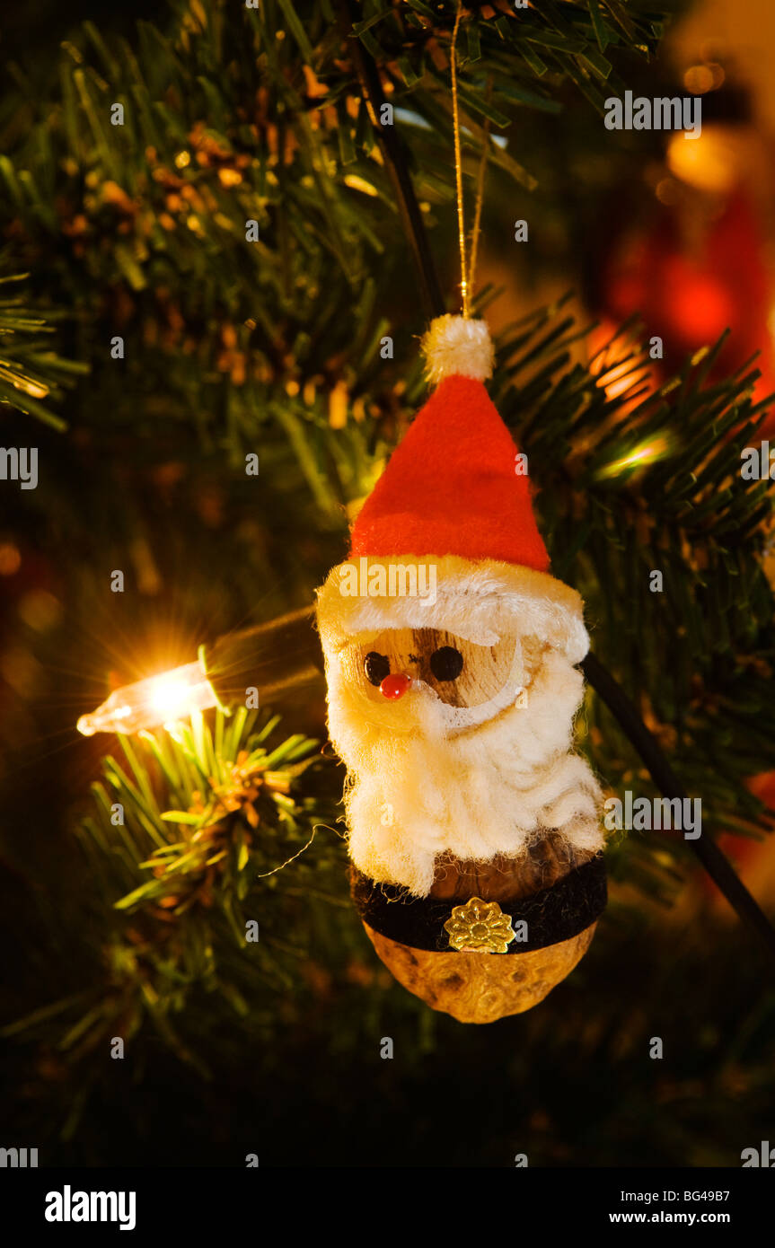 Norwegian Christmas.Traditional Norwegian Christmas Decorations Stock Photo