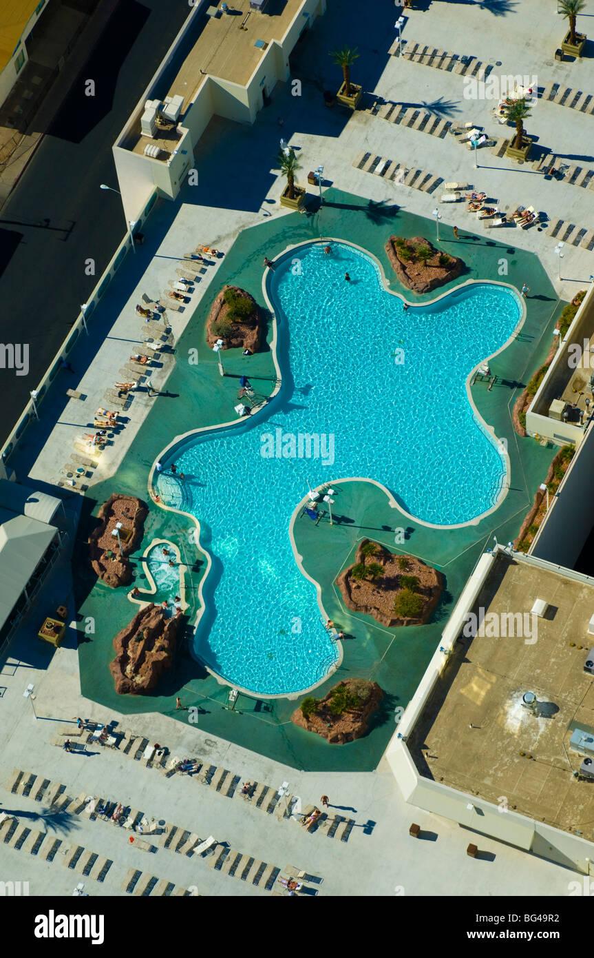 USA, Nevada, Las Vegas, Stratosphere pool - Stock Image