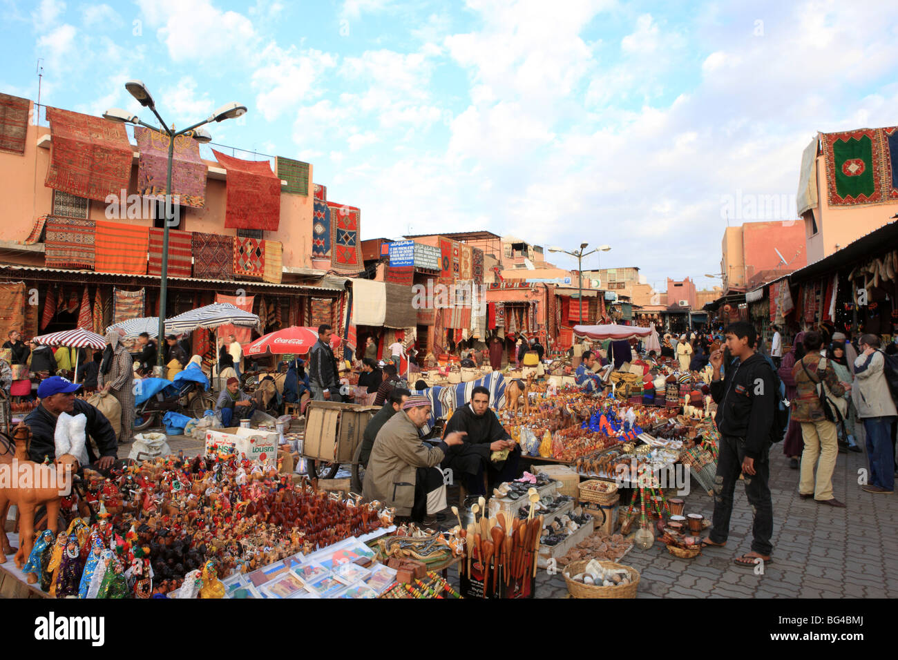 Souks in medina (old walled city), Marrakesh, Morocco, North Africa, Africa Stock Photo