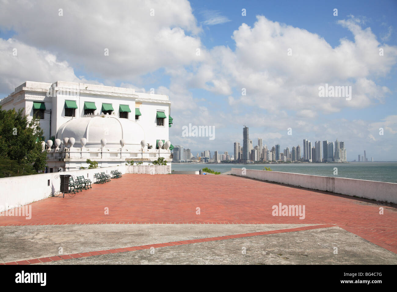 Paseo General Esteban Huertas, Casco Viejo, San Felipe District, Panama City, Panama Bay, Panama, Central America - Stock Image