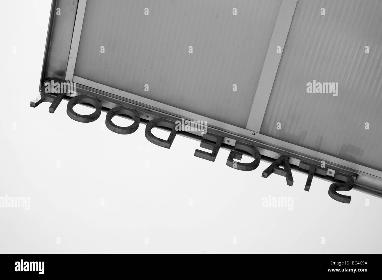 Theatre Door Black and White Stock Photos & Images - Alamy