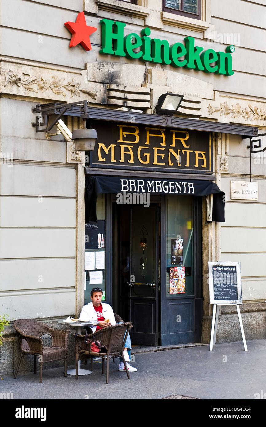 Bar Magenta, Milan, Italy - Stock Image