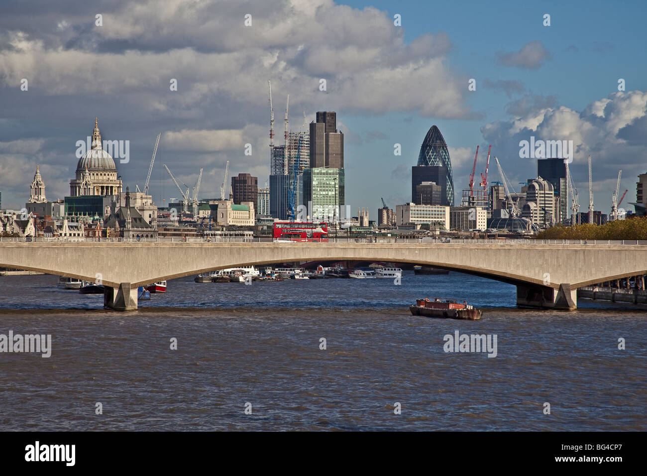 London View From Hungerford Bridge Of Waterloo Bridge And