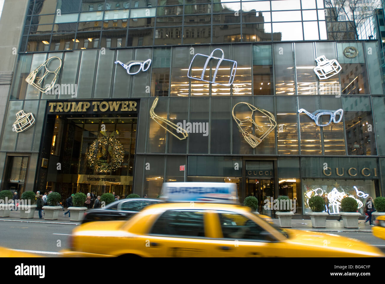 the gucci store on fifth avenue in the trump tower in new. Black Bedroom Furniture Sets. Home Design Ideas