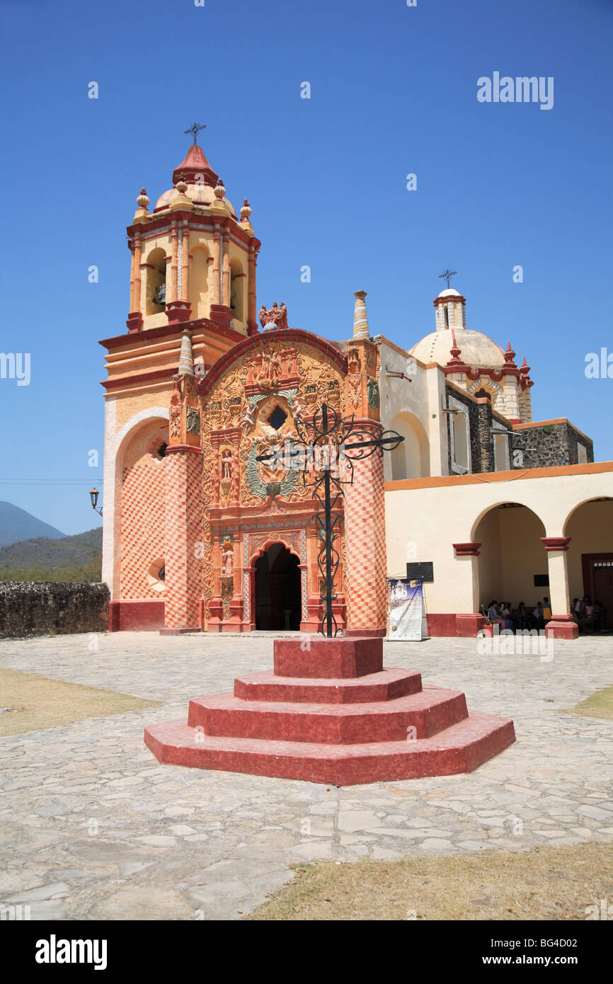 Conca Mission, one of five Sierra Gorda missions designed by Franciscan Fray Junipero Serra, Arroyo Seco, Queretaro, - Stock Image