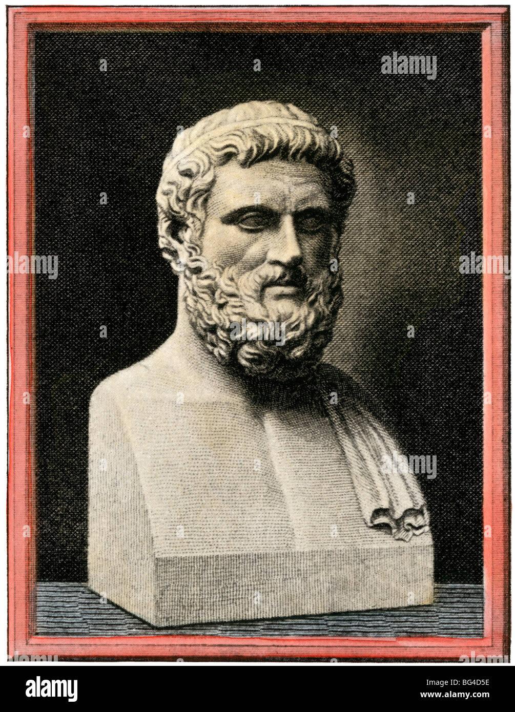 Bust of Athenian statesman Solon - Stock Image