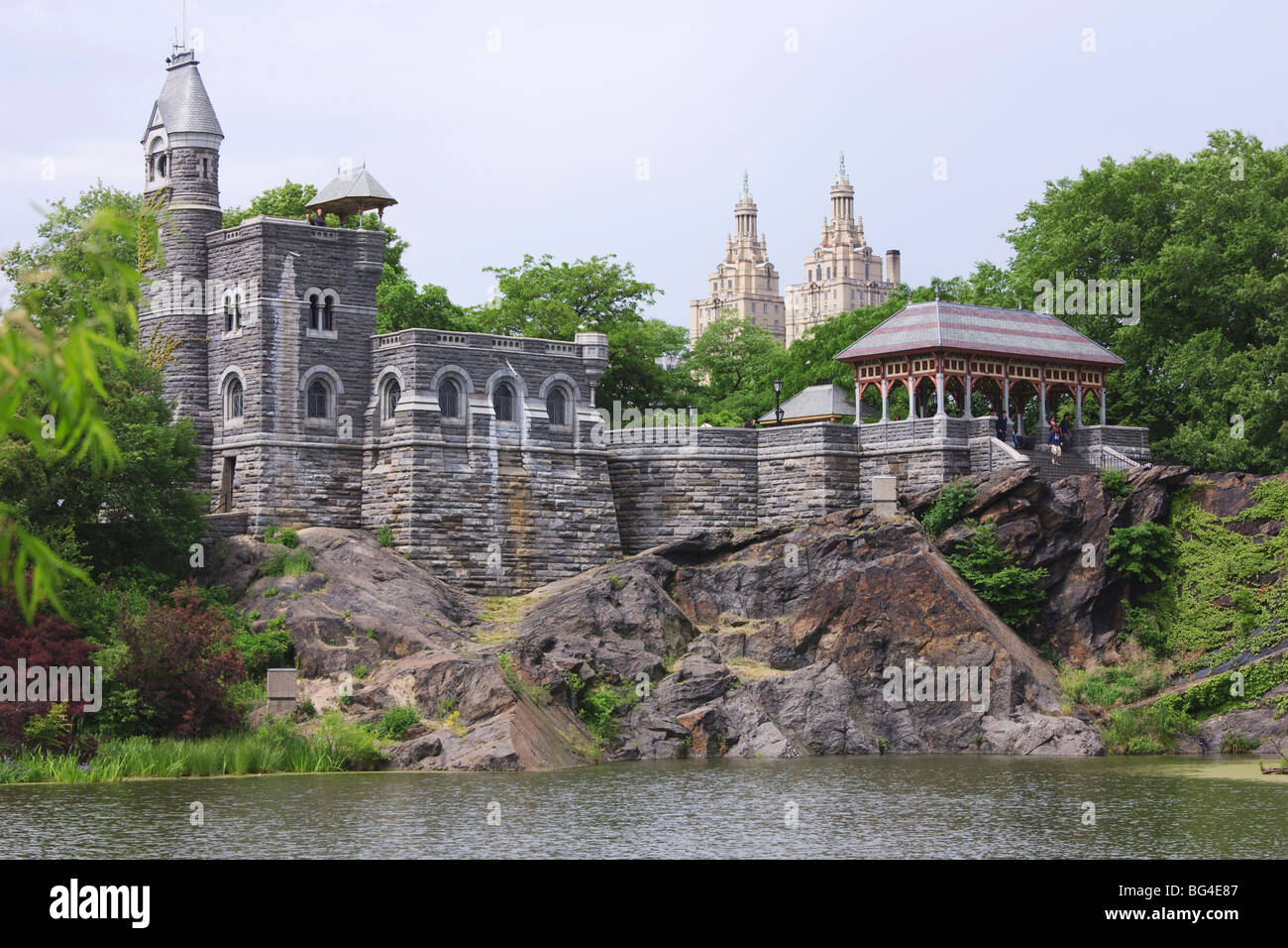 belvedere castle and turtle pond central park manhattan
